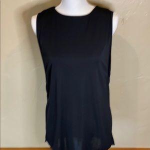 Black sleeveless tunic with build-in bra